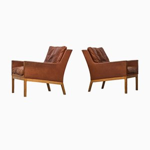 Model 39 Easy Chairs by Kai Lyngfeldt Larsen for Søren Willadsen, 1960s, Set of 2