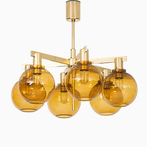 Model T-348/6 Ceiling Lamp by Hans-Agne Jakobsson, 1950s