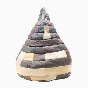 Leather Patchwork Beanbag from de Sede, 1960s