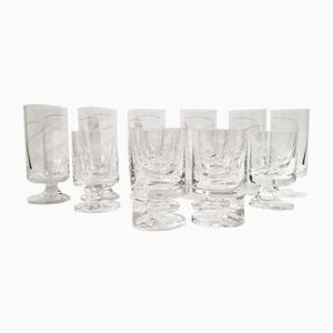 Wine & Water Glasses by Joe Colombo for Arnolfo Di Cambio, 1964, Set of 12