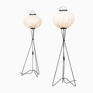 Mid-Century Floor Lamps, Set of 2