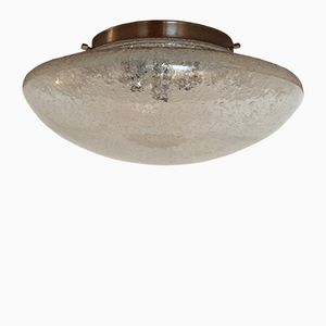 Large Glass Wall Light from Hillebrand Lighting, 1970s