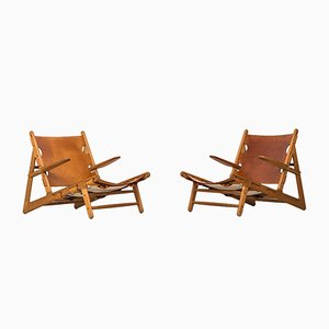 Mid-Century Easy Chairs by Børge Mogensen for Fredericia Stolefabrik, Set of 2