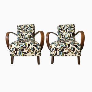 Floral Armchairs by Jindřich Halabala for Thonet, 1940s, Set of 2