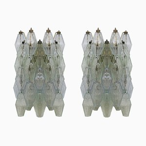 Poliedri Sconces by Carlo Scarpa for Venini, 1960s, Set of 2