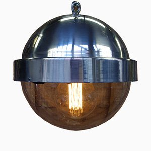 Vintage Spherical Aluminum Pendant Lamp, 1950s