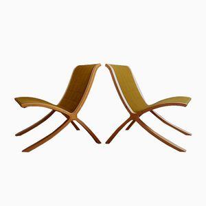 Mid-Century X-line Stühle von Peter Hvidt & Orla Mølgaard-Nielsen für Fritz Hansen, 2er Set