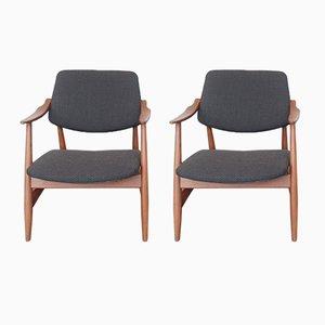 Armlehnstühle von Louis van Teeffelen für WéBé, 1950er, 2er Set