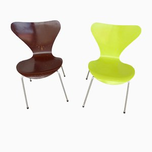 Series 7 Chairs by Arne Jacobsen for Fritz Hansen, 1985, Set of 2