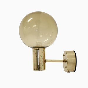 Brass Wall Light by Hans Agne Jakobsson for AWF, 1960s