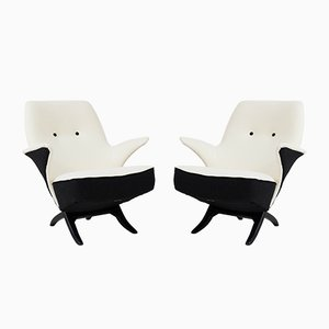 Mid-Century Modern Penguin Lounge Chairs by Theo Ruth for Artifort, 1957, Set of 2