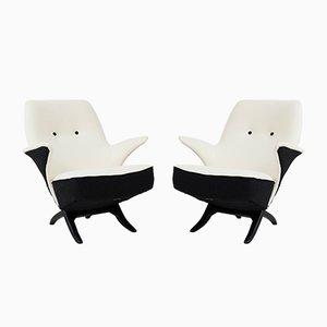 Mid-Century Modern Penguin Sessel von Theo Ruth für Artifort, 1957, 2er Set