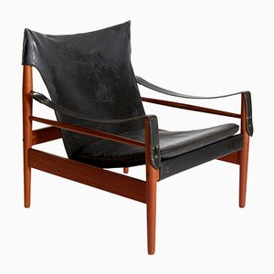 Vintage Antilope Safari Chair by Hans Olsen for M Viskadalens Möbelindustri