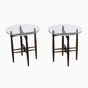 Palisander Side Tables by Poul Hundevad for Vamdrup, 1950s, Set of 2