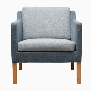 Vintage Model 2521 Blue Easy Chair by Børge Mogensen for Fredericia