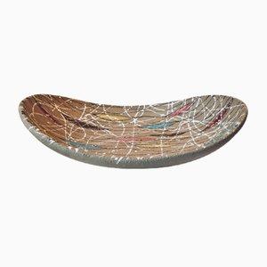 Bunte Italienische Moderne Keramik Schale von Fratelli Fanciullacci für Bitossi, 1950er