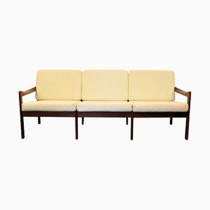 Vintage Danish Teak 3-Seater Sofa by Illum Wikkelso for Niels Eilersen