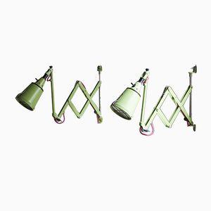 Vintage Scissor Lamps by Curt Fischer for Midgard DRGM, Set of 2
