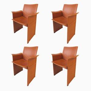 Italian Korium KM1 Chairs by Tito Agnoli for Matteo Grassi, 1980s, Set of 4