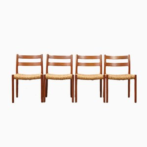 Vintage 84 Teak Dining Chairs by N.O. Møller for J.L. Møllers, Set of 4