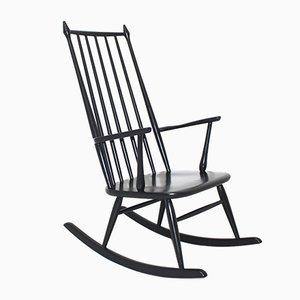 Rocking Chair Noire, Scandinavie, 1960s