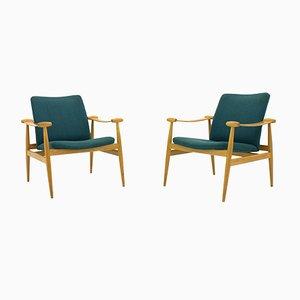FD 133 Spade Chairs by Finn Juhl for France & Søn, 1960s, Set of 2