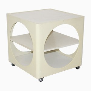 Ivory Colored Side Table, 1960s