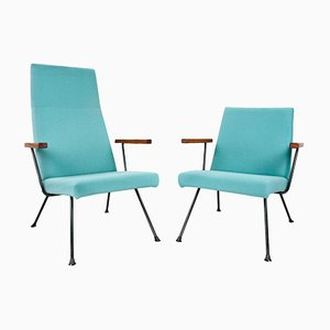 Vintage 1410/ 1409 Lounge Chairs by Andre Cordemeyer for Gispen, Set of 2
