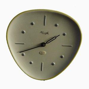 Horloge Murale en Céramique par Wilhelm Kienzle, 1950s