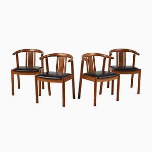 Mid-Century Danish Dining Chairs, 1940s, Set of 4
