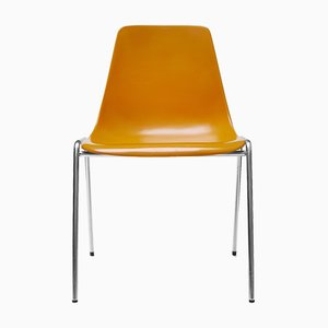 Fiberglass Chairs by Georg Leowald for Wilkhahn, 1950s, Set of 4