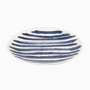 Indigo Rain Dinner Plate by Faye Toogood