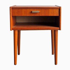 Table de Chevet Vintage avec Tiroir, Danemark