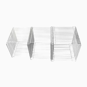 Chrome Steel Tables, Stools or Bookcases by Verner Panton for Fritz Hansen, 1970s, Set of 3