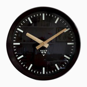 Horloge de Gare PV 301 Industrielle de Pragotron, 1980s