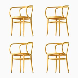 Vintage Bentwood 209 Armchairs by Thonet, Set of 4
