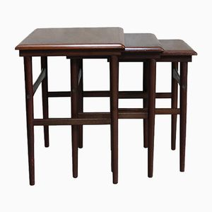 Vintage Rosewood Nesting Tables from Dyrlund, 1960s