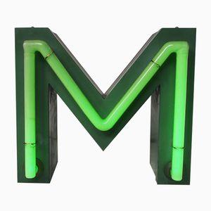 Vintage Neon Letter M Sign