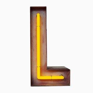Vintage Neon Buchstabe L