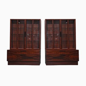 Vintage Rosewood Cabinet by Ib Kofod Larsen for Faarup Møbelfabrik, Set of 2