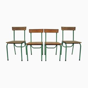 Childrens Chairs by Willy van der Meeren for Tubax, 1950s, Set of 4