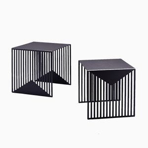 ZICK ZACK Nesting Tables in Black by Olga Bielawska for Swedish Ninja