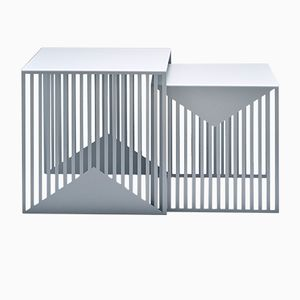 ZICK ZACK Nesting Tables in Grey by Olga Bielawska for Swedish Ninja, 2016