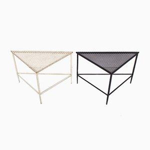 Triangular Tables by Mathieu Matégot for Artimeta, 1950s, Set of 2