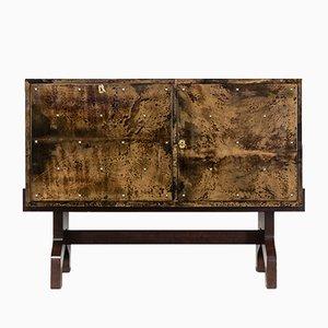 Lacquered Goatskin Cabinet by Aldo Tura for Tura Milano, 1950s
