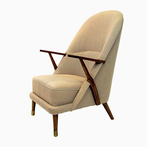 Mid-Century Off-White Armchair