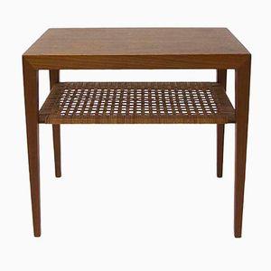 Vintage Side Table by Severin Hansen Jr. for Haslev Möbelsnedkeri A/S