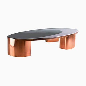 Model 1969 Oval Copper & Resin Inlay Coffee Table by SORS Privatiselectionem, 2017