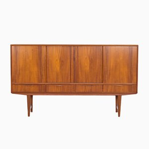 Mid-Century Highboard in Teak by EW Bach for Seibling Skabe