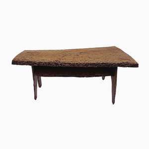 Mid-Century Walnut Tree Trunk Coffee Table